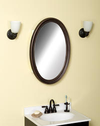 Zenith Oil-Rubbed Bronze Framed Oval Medicine Cabinet