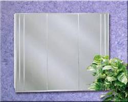 """Zenith 32"""" Beveled Cut Glass Tri-View Medicine Cabinet"""