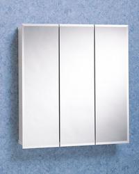 "Zenith 24"" Frameless Tri-View Medicine Cabinet"