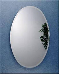 Zenith Oval Mirror Medicine Cabinet