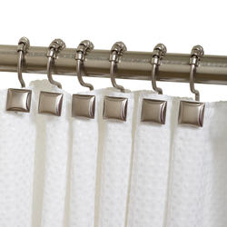 Simply Style Brushed Nickel Decorative Roller Shower Hook