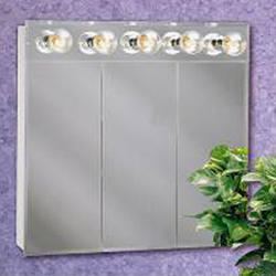 "Zenith 30"" Lighted Tri-View Medicine Cabinet"