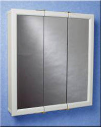 "Zenith 30"" White Wood Tri-View Medicine Cabinet"