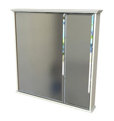 "Zenith 30"" White Bi-View Medicine Cabinet"