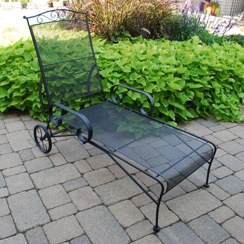 Backyard Creations™ Wrought Iron Chaise Lounge at Menards