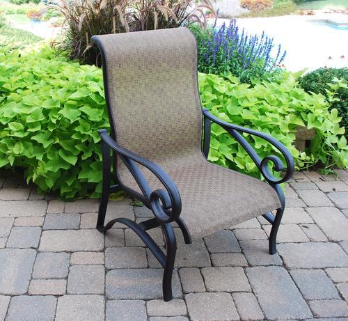 backyard creations sling chat chair at menards