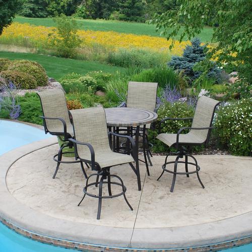 backyard creations 5 piece laguna high dining collection at menards