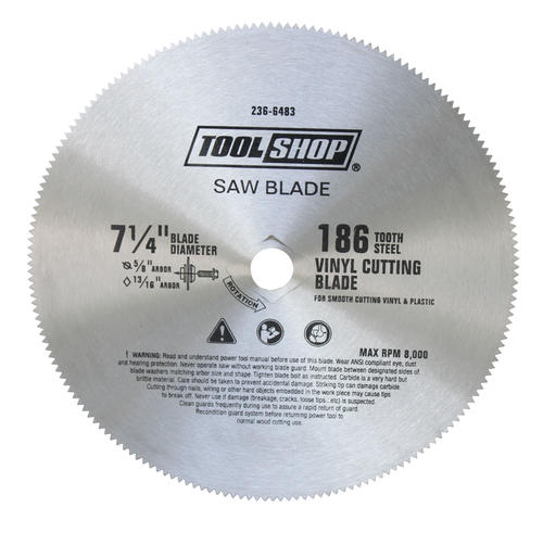 Tool Shop 174 7 1 4 Quot 186t Vinyl Siding Saw Blade At Menards 174