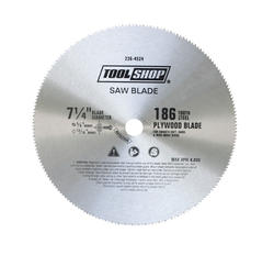 "Tool Shop® 7-1/4"" 186T Plywood Saw Blade"