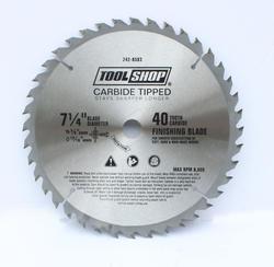 "Tool Shop® 7-1/4"" x 40T Carbide Finishing Saw Blade"