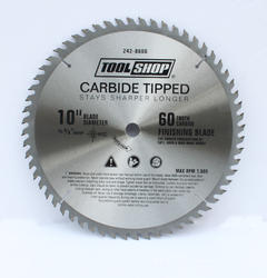 "Tool Shop® 10"" x 60T Carbide Finishing Saw Blade"