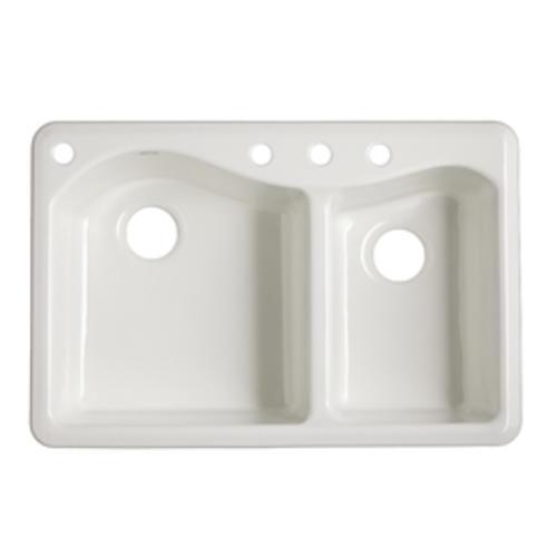 Lawnfield Offset Bowl Cast Iron Kitchen Sink At Menards