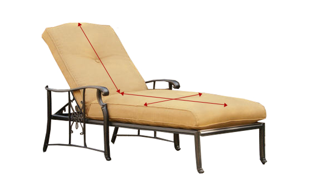 Measuring a lounge chair
