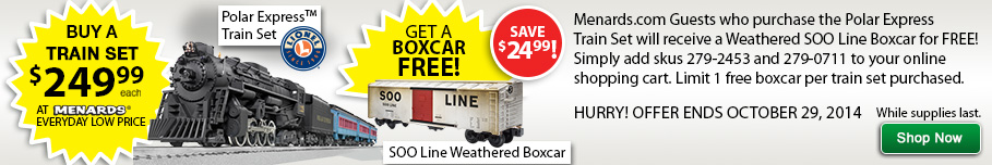 Polar Express + FREE Boxcar