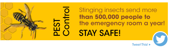 Pest Control - Stay Safe - Tweet This!