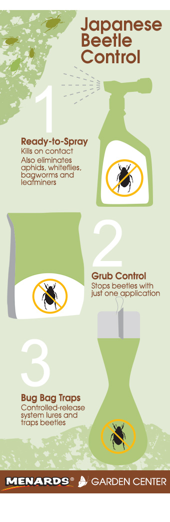1: Ready-to-Spray, 2: Grub Control, 3. Bug Bag Traps