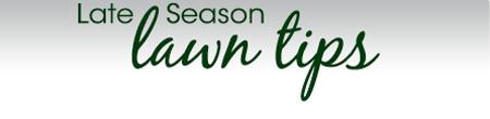 Late Season Tips