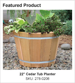 "22"" Cedar Tub Planter"