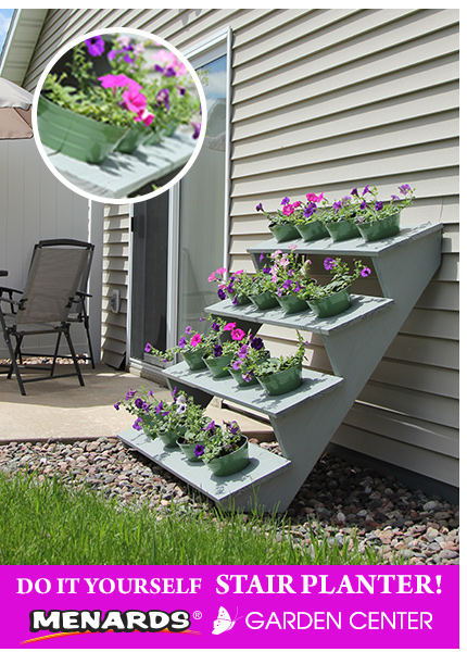 Do It Yourself Stair Planter
