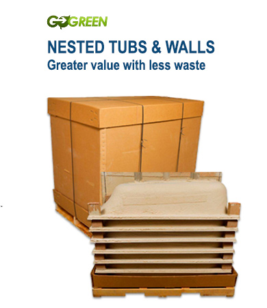 Go Green - Nested Tubs & Walls