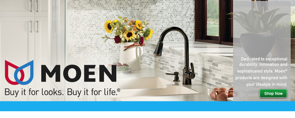Moen. Buy it for looks. Buy it for life. Dedicated to exceptional durability, innovation and sophisticated style. Moen products are designed with your lifestyle in mind. Click here to shop now.