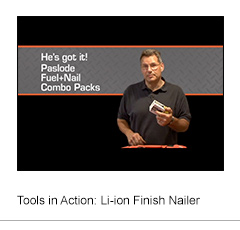 Tools in Action: Li-Ion Framing Nailer
