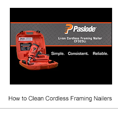 How to Clean Cordless Framing Nailers