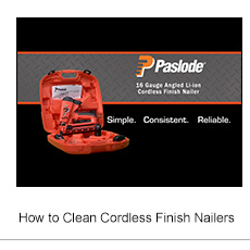 How to Clean Cordless Finish Nailers