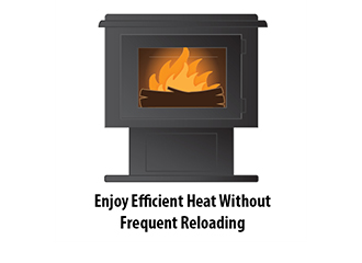 Enjoy heat wothout frequent loading