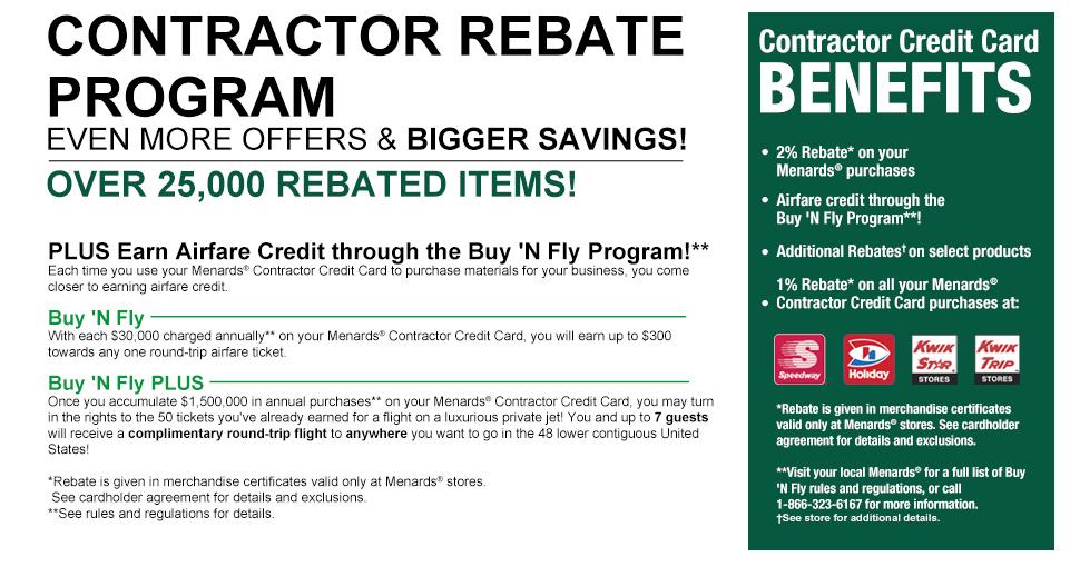 Contractor Rebate Program