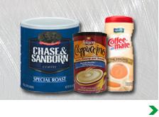 Coffee, Creamer, Cappuccino and Tea