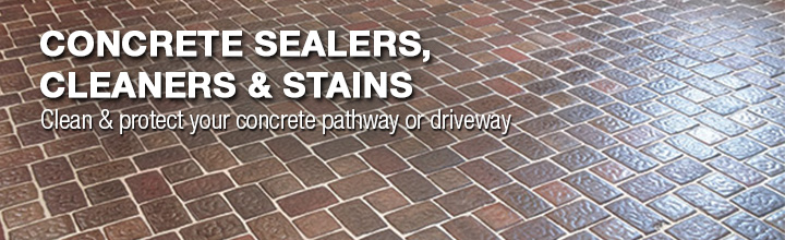 Concrete Sealers, Cleaners and Stains. Clean and protect your concrete pathway or driveway.