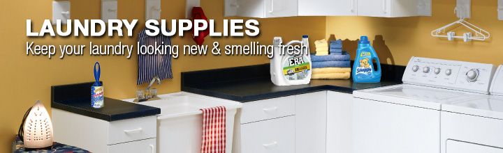 Laundry Supplies. Keep your laundry looking new and smelling fresh.