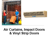Air Curtains, Impact Doors & Vinyl Strip Doors