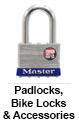 Pad Locks, Bike Locks & Accessories