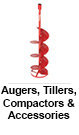 Augers, Tillers, Compactors & Accessories