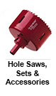Hole Saws, Sets & Accessories