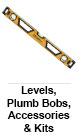 Levels, Plumb Bobs, Accessories & Kits