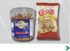 Snack Mixes, Chips and Dip