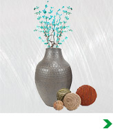 Faux Floral and Plants, Decorative Fillers and Vases