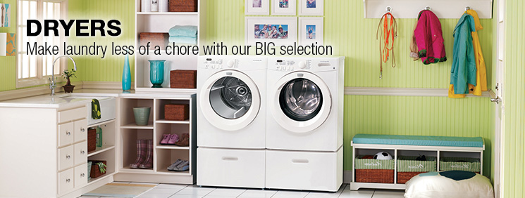 Dryers. Make laundry less of a chore with our big selection.