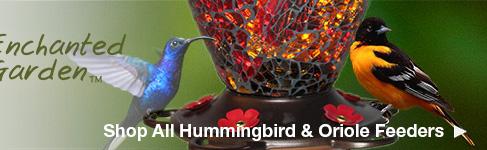 Shop All Enchanted Garden Hummingbird & Oriole Feeders