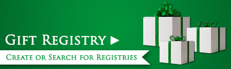 Gift Registry. Create or search for registries.