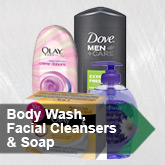 Body Wash, Facial Cleansers and Soap