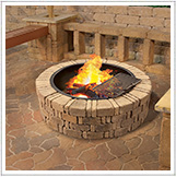 Wood Fire Pits & Rings Landscaping Projects