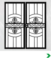Custom Double Security Doors
