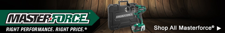 Masterforce. Right Performance. Right Price. Click here to shop all Masterforce now.
