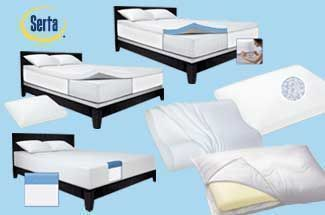 "Serta<span class=""registered"">&reg;</span> Foam Toppers, Mattresses And Pillows"