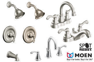 Moen Spot Resist Brushed Nickel Traditional Bathroom Faucets