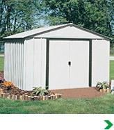 Metal shed kits menards for Garden shed kits menards